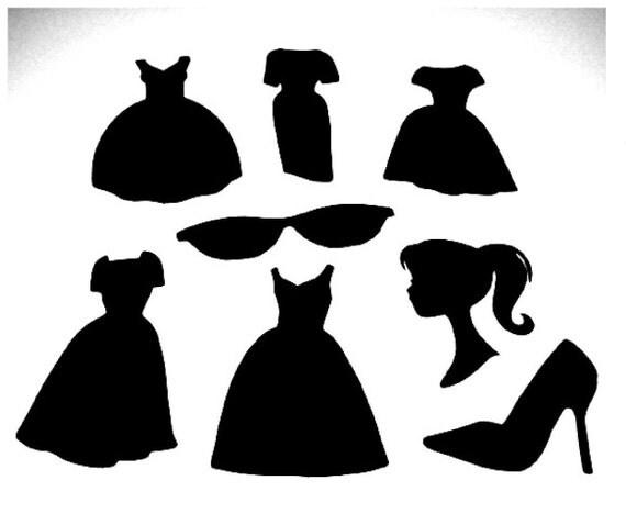 Fashion Girl Doll Stuff Die Cut Set of 11 Pieces
