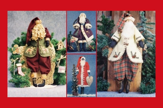 Mailed Special Santa Collection of Cloth Doll Patterns