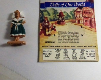 Vintage Mid Century Dolls of Our World Germany Doll and Card