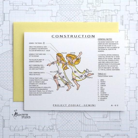 Project Zodiac - Gemini - Blank Architecture Construction Cards