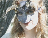 Blurig, the Ogre - Labyrinth- Inspired OOAK Horned Masquerade Mask - Ready to Ship