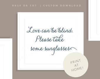 Navy Printable Sunglasses Sign   Printable Sunglasses Sign   Downloadable Wedding Sign   Printable Reception Sign   Jessica Collection