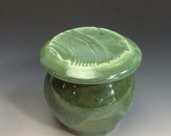 French Butter Dish- Wintergreen