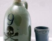 dancing skeleton jug moonshine whiskey handmade