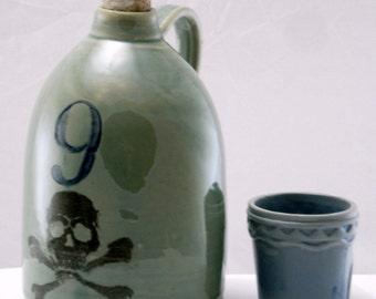 dancing skeleton jug