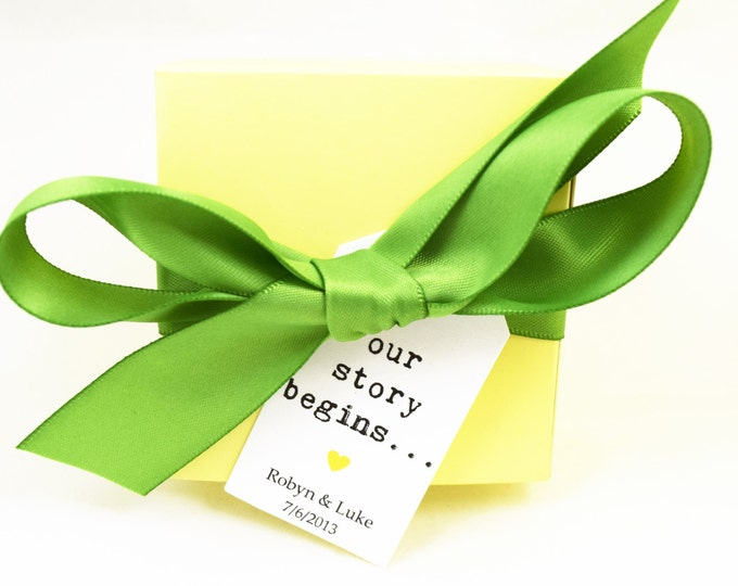 SOAP FAVORS - wedding favors, vegan favors, yellow favors, party favors, gifts, green favors