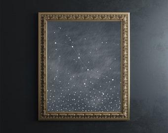 Big Dipper Fine Art Print // Ursa Major // constellation // astronomy // giclee print // wall art // wall decor // gifts for her /home decor