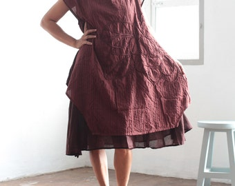 Artistic collection...Sunflower dress Maroon red/Dark red ... and more color  (1160)