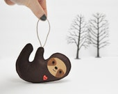 Sloth Christmas Ornament- Baby Shower - Party Favor