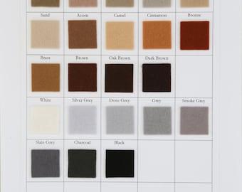 Wool Felt, Large Felt Sheet, Felt Square, Brown Felt, Grey Felt, Merino Wool, White, Beige, Brown, Black, Grey Felt, Primitive Applique