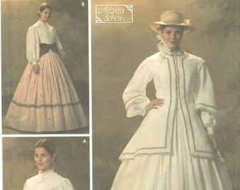 Simplicity 4900 0520  Womens Civil War Costume Pattern Dress Jacket  Designer Sewing Pattern Size 10 12 14 16 18  Bust 31 - 40  UNCUT