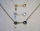 Beaded spoon necklace for the spoonie community Nickel free, customisable ME, CFS, CFIDS, chronic illness, fibromyalgia, fnd, dysautonomia