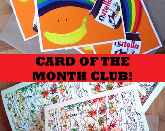 Card of the Month Club, Club Membership, Gift Subscription, Card Club, Surprise Box, Gift Membership, Stationery Gift, Last Minute Gift