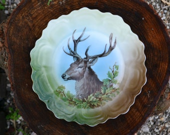 Antique Z.S. & Co. Stag Plate