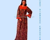 Simplicity 8752 Womens Caftan Housedress MuuMuu Duster Robe size 10 12 14 Bust 32.5 34 36 Vintage 70's Sewing Pattern Uncut FF