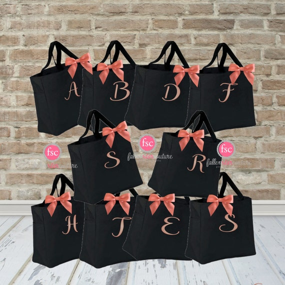 10 Bridal Party Tote Bags Bridesmaid Gifts Personalized