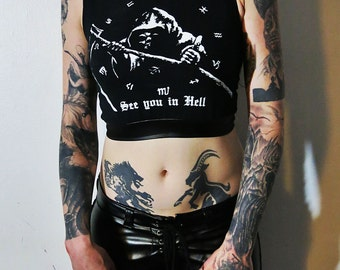 Grim Reaper Crop Tank Top