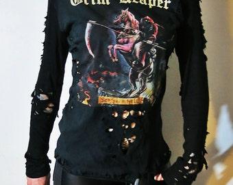 Grim Reaper Shredded Hoodie