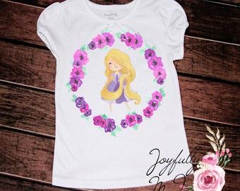 Rapunzel Tee - Rapunzel Outfit - Birthday Onesie - Princess Shirt - Rapunzel Shirt - Newborn Bodysuit