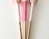 """Doll Pencils Wooden """"Valentine Cluster 1"""" Linen, Hand Painted Pencils, Gifts For Writers"""
