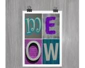 Meow - 4 x 6 photograph