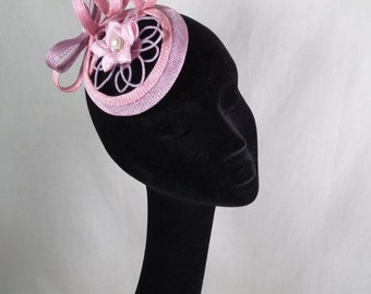 A pretty pink and lilac fascinator