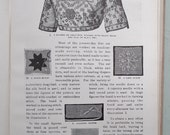 Antique Needlecrafts Book - The Home Art Book of Fancy Stitchery - Flora Klickmann c. 1910s  - whitework embroidery crochet knitting macrame