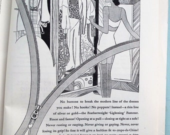 Vogue's Guide to Practical Dressmaking 1932 vintage 1930s needlework book sewing techniques 30s adverts
