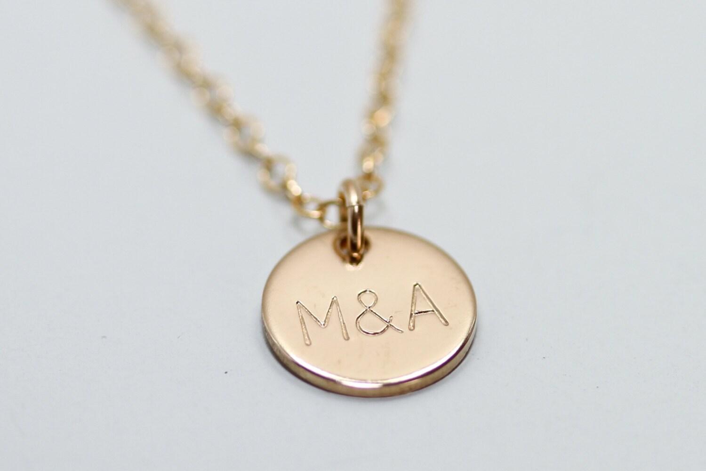 custom gold necklace gold disc necklace gold circle. Black Bedroom Furniture Sets. Home Design Ideas