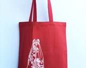 NAMASTE Hands - Eco-Friendly Market Tote Bag - Hand Screen printed (Ships FREE!)
