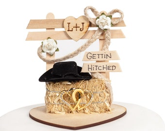 Western Affection Wedding Cake Topper - 70412C