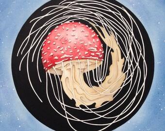 New Moon Amanita - Giclee Print