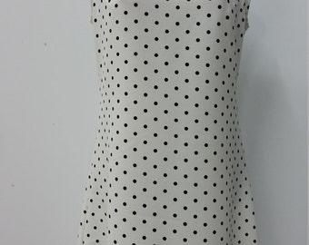 Casual dress, A line cut, women fashion, black and white print, woman apparel, comfortable wear