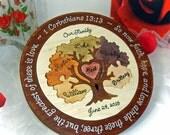 Custom Designed Family Tree Wedding Unity Puzzle Unity Ceremony Alternative Personalized Blended Family Wedding Gift  Anniversary Gift