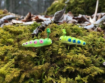 5 Little worm / Miniature worm/ Terrarium Accessories/ Fairy garden accessories