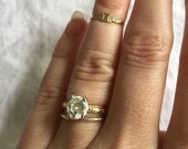 Victorian Engraved Midi-Ring 10k Gold Ring