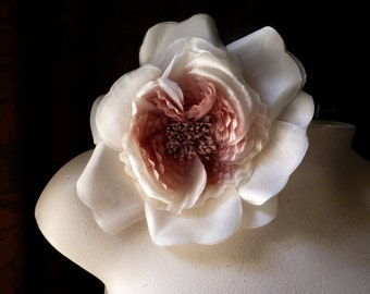 Rose Pink Silk Millinery Flower for Bridal, Hats, Couture, Corsages, Bouquets MF 134