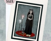 A5 Greeting Card - Goth Girl & Skull  Greeting Card - Till Death Do Us Part