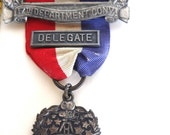 Vintage American Legion Badge Medal For Delegate Hollywood 17th Department Convention Aug 8 - 12 1936