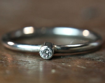Recycled silver & ethical lab grown solitaire Moissanite ring. Hand made to order in the UK