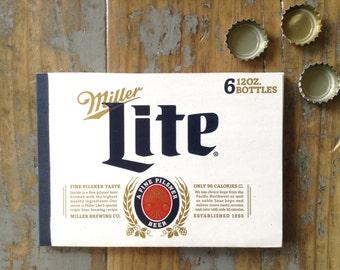 Miller Lite Recycled Beer Notebook