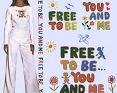"Marlo Thomas ""Free to Be You and Me"" Iron-On Transfer! Vintage 1970s McCall's Carefree Patterns 4815, One Size, Never Used, New Old Stock"