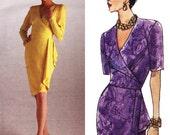 Ungaro Cocktail Dress! Vintage ©1993 Vogue Paris Original Emanuel Ungaro Sewing Pattern 1110, Misses' Dress, Sizes 14-16-18, Uncut w/ FFs