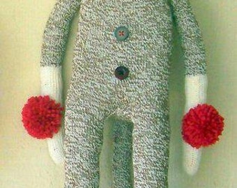 Primitive Folk Art Sock Monkey Doll Female Girl Red Heel Rockford Collectible Vintage-Style Single or Set of Two Available OFG HAFAIR FAAP