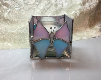 Butterfly Candle Shelter in Stained Glass