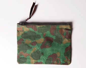 The Vintage Green Duck Camo Pouch