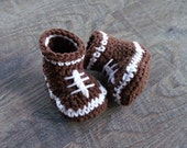 Football Baby Booties, Crochet Football Shoes, Baby Boy Shoes, Football Baby Shower, Crochet Baby Shoes, Crochet Baby Boy Booties