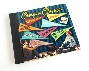 Vintage Campus Classics Record Set 78 rpm Capitol Artists Dorm Apartment Decor