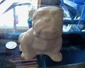 vintage dog figurine planter vase bulldog