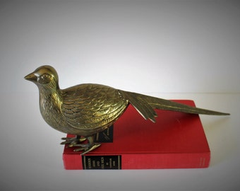 VINTAGE brass BIRD / brass bird / wedding gift / housewarming gift / gift for her / vintage brass / road runner / brass road runner / bird